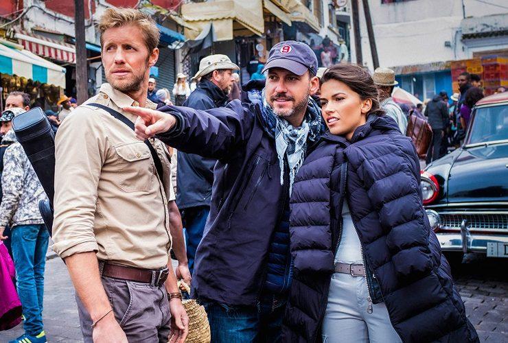 Matt Barr and Sofia Pernas on the set of Blood and Treasure Season 2