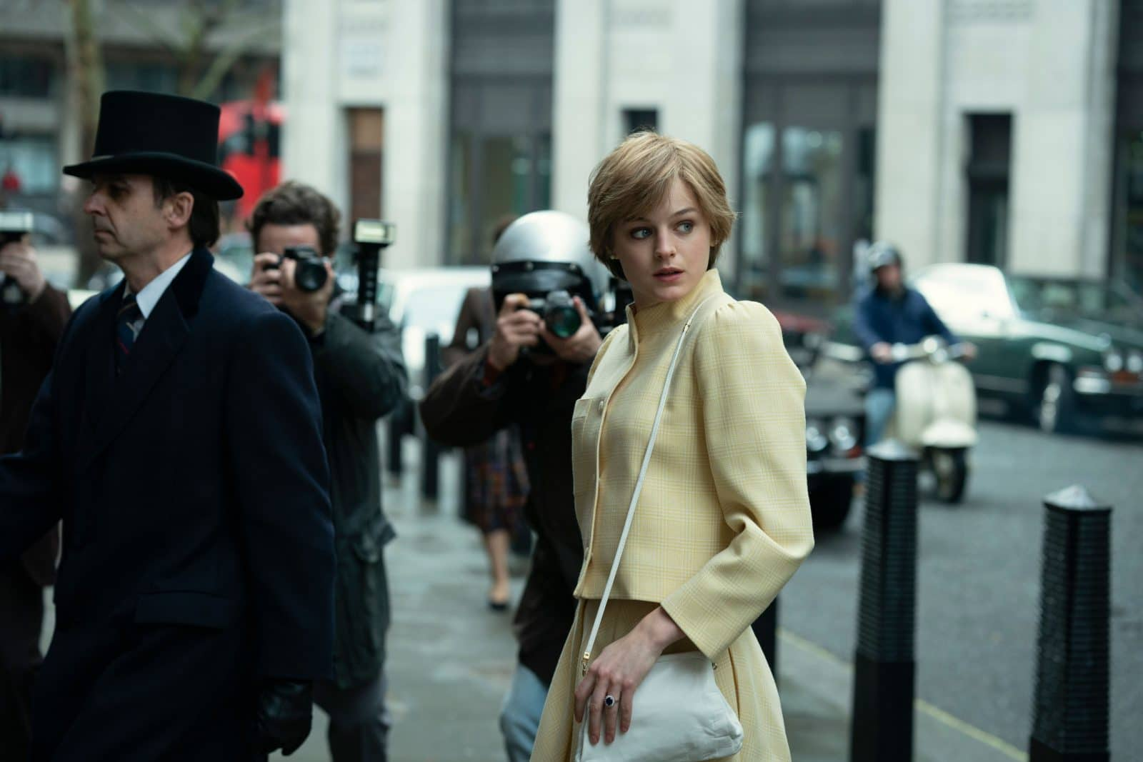 Emma Corrin as Princess Diana in season 4 of The Crown