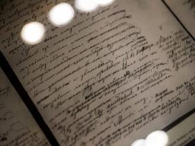 Leo Tolstoy's handwritten manuscript for Anna Karenina