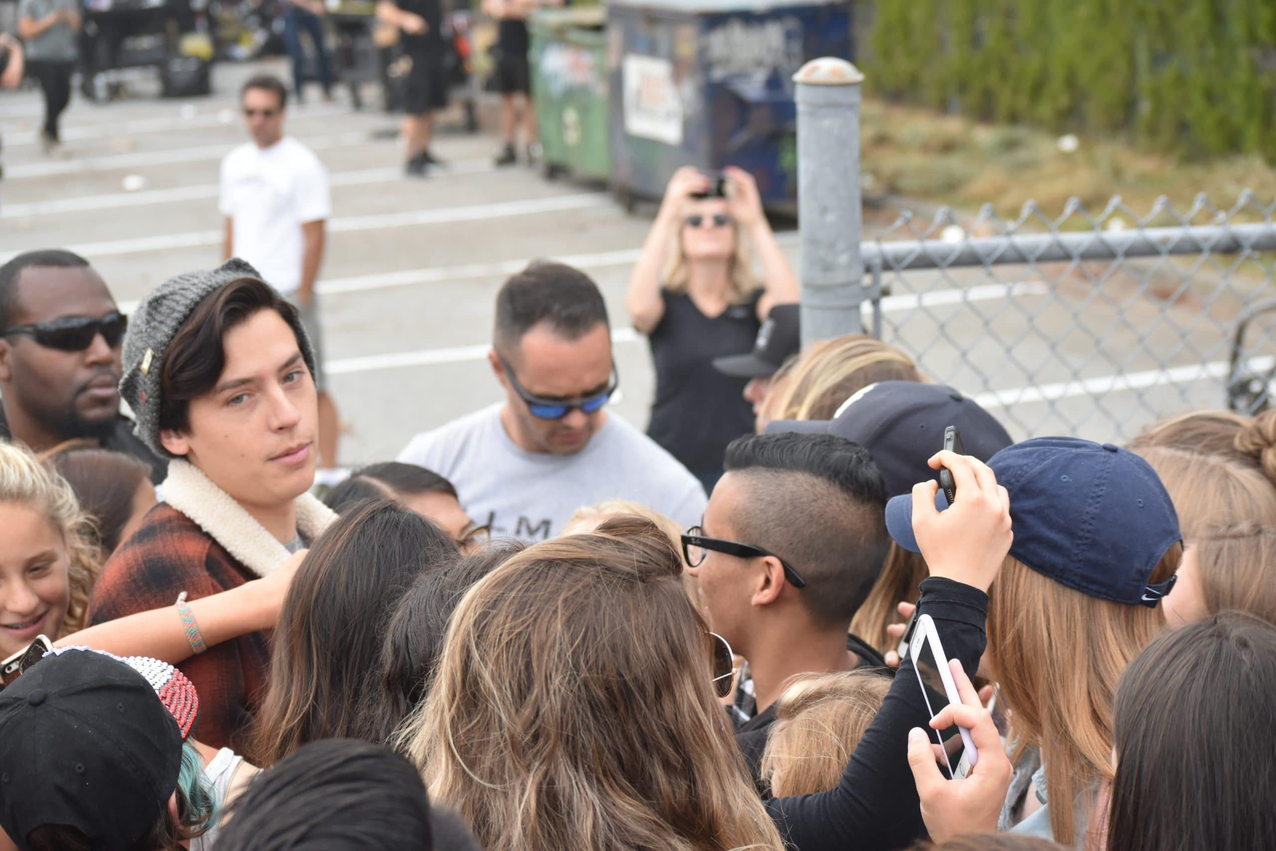 Cole Sprouse as Jughead while filming Riverdale Season