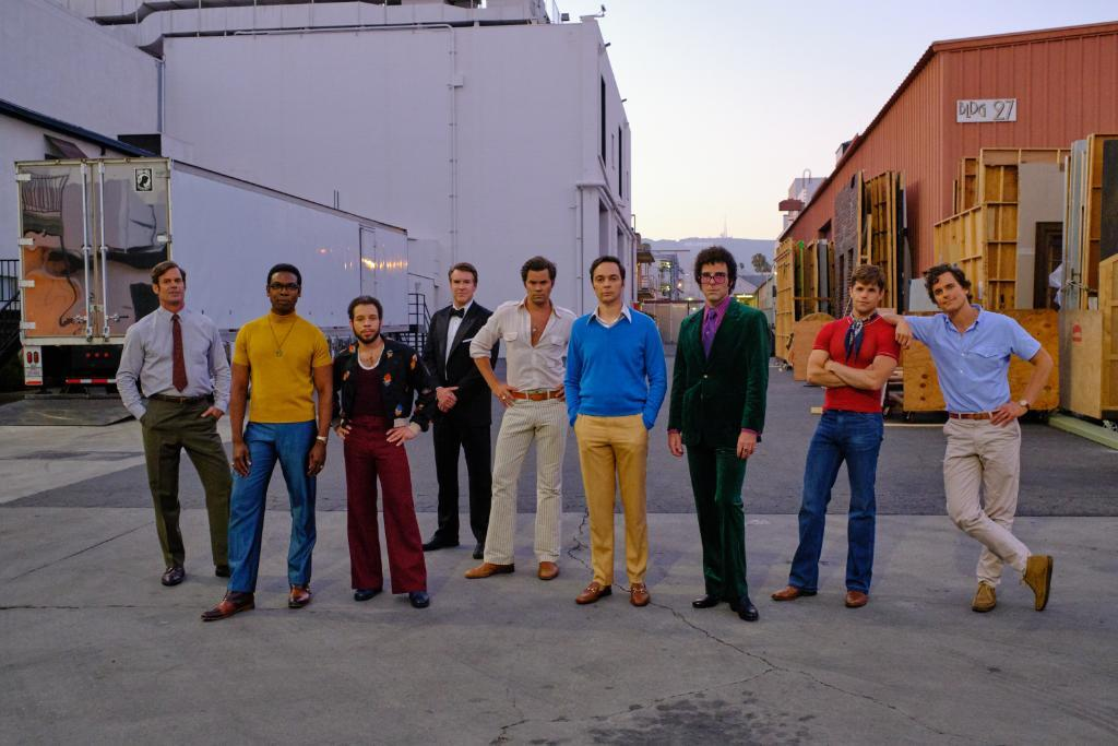 The full cast of The Boys In The Band play and movie