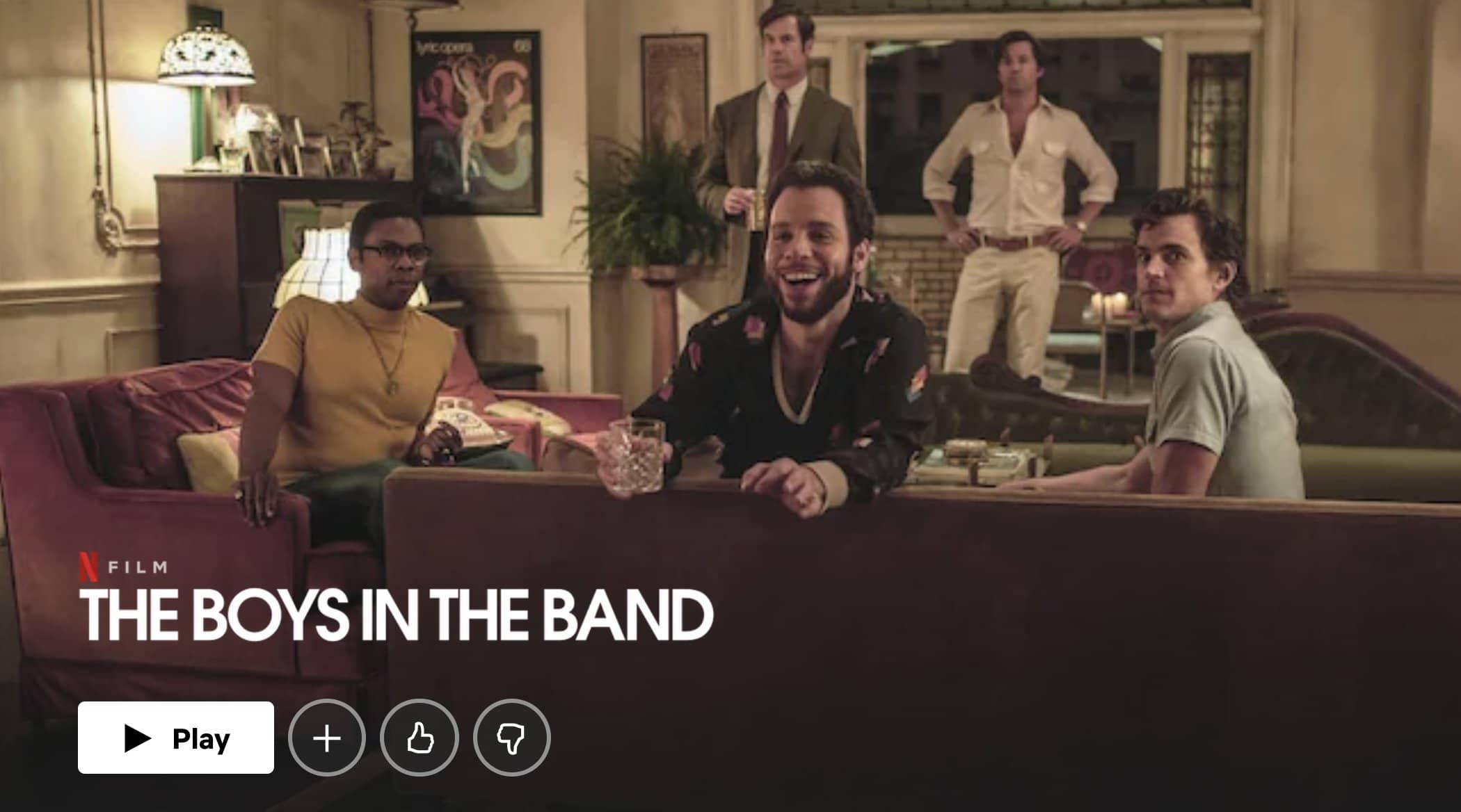 The Boys In The Band based on play