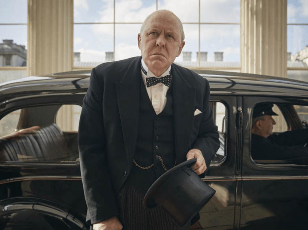 John Lithgow as Winston Churchill in The Crown Scientia Potentia Est (Season 1, Episode 7)
