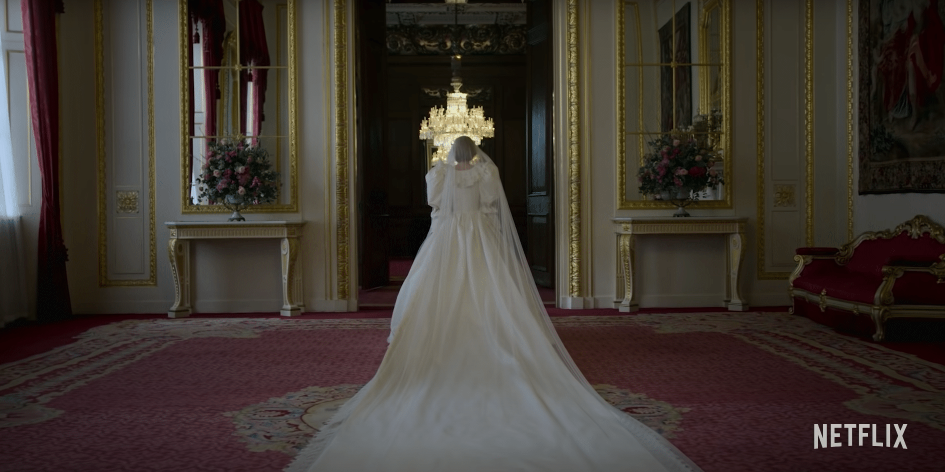 Princess Diana Wedding Dress in The Crown