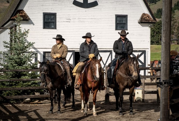 Yellowstone Season 4 - Kevin Coster, Cole Hauser and Luke Grimes
