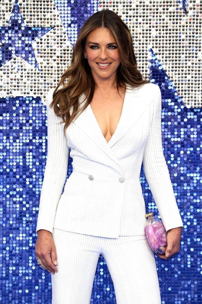 Elizabeth Hurley in White Suit