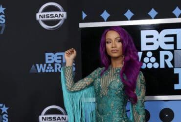 Sasha Banks from The Mandalorian at the BET Awards