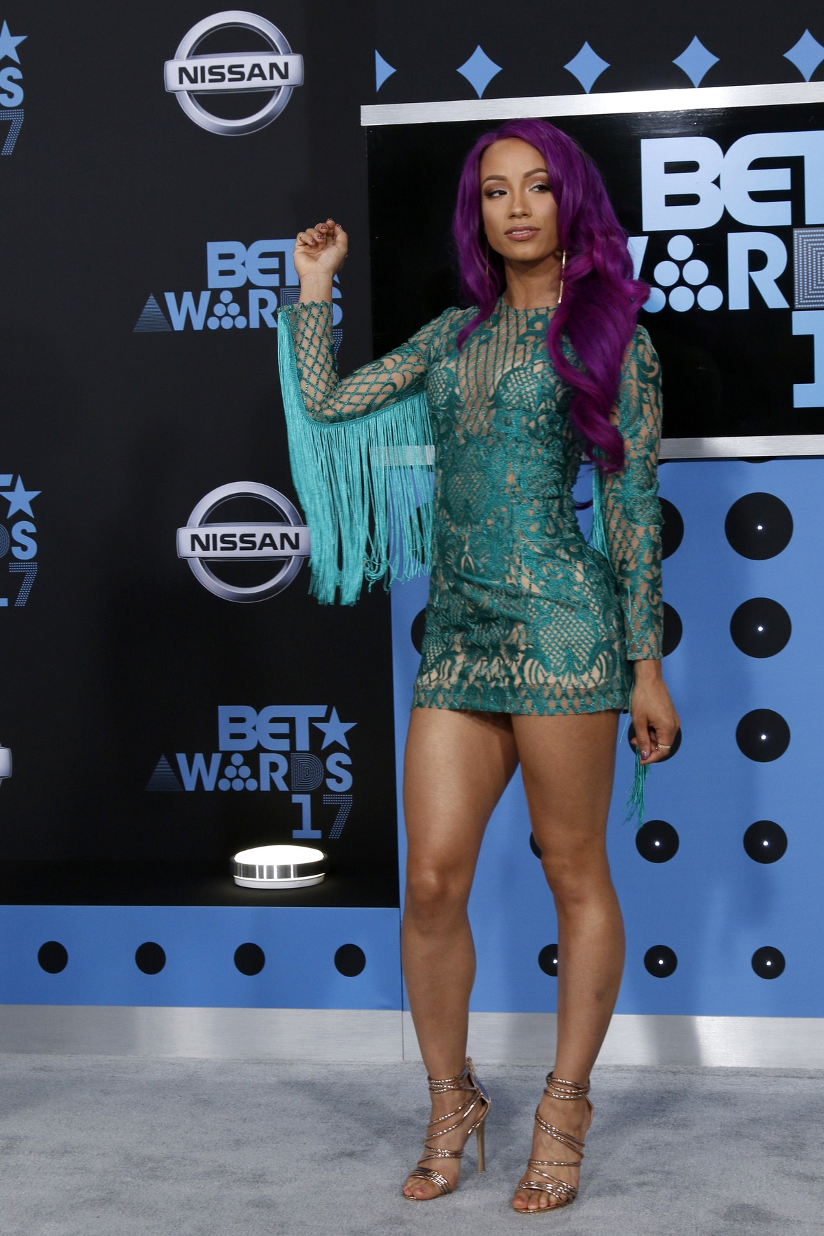 Sasha Banks from The Mandalorian at the BET Awards
