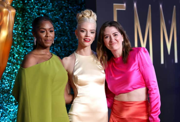"""""""The Queens Gambit"""" cast members at the 73rd Emmy Awards."""